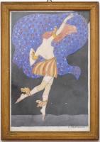 """Acquarello di ballerina """"Volterrani"""""""