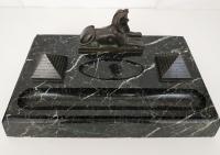 Calamaio in marmo e bronzo