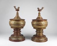 "Coppia di ""Stupa"" birmane"