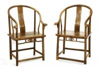 Coppia di sedie a schienale curvo